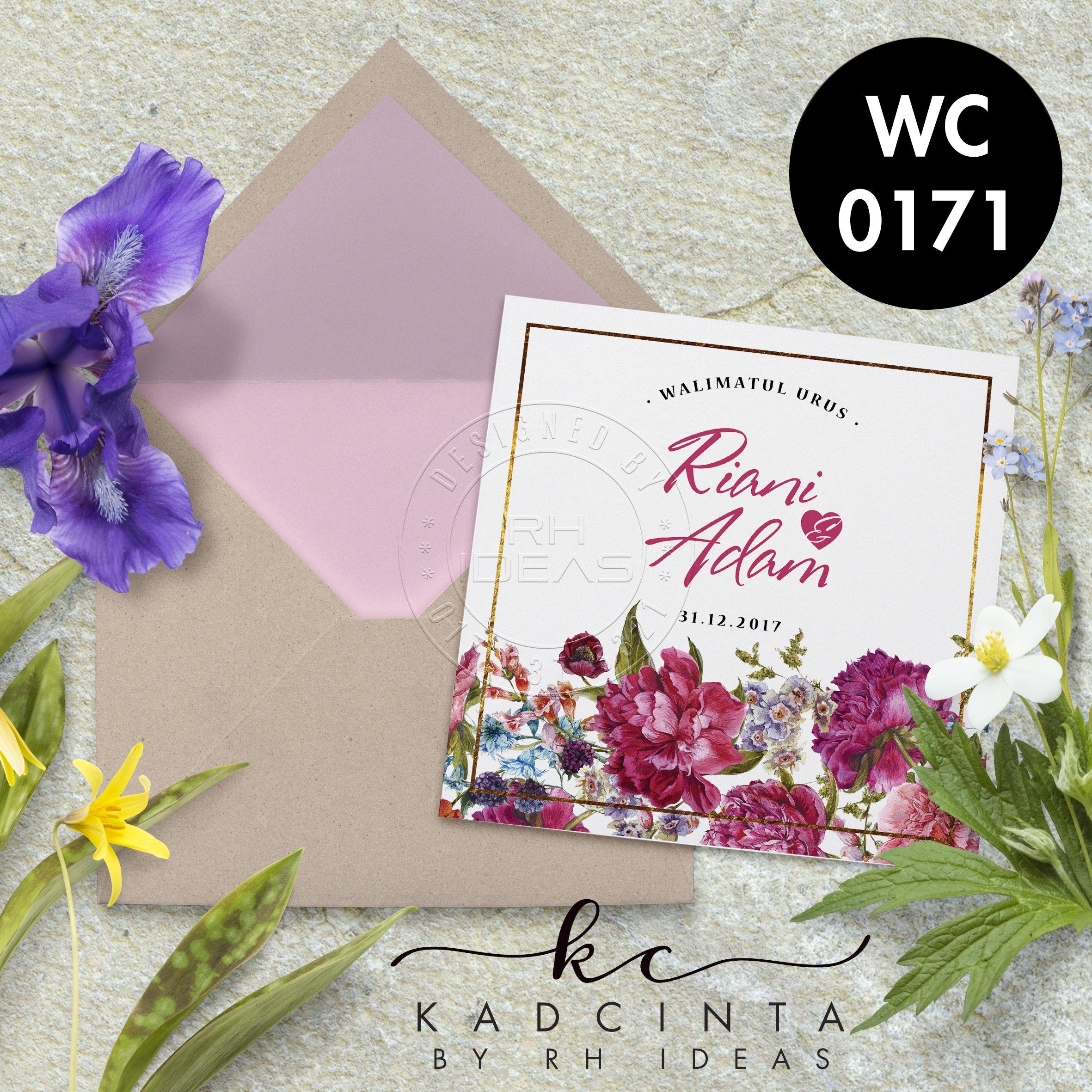Kad Kahwin Wc0171 Kad Kahwin Wedding Cards
