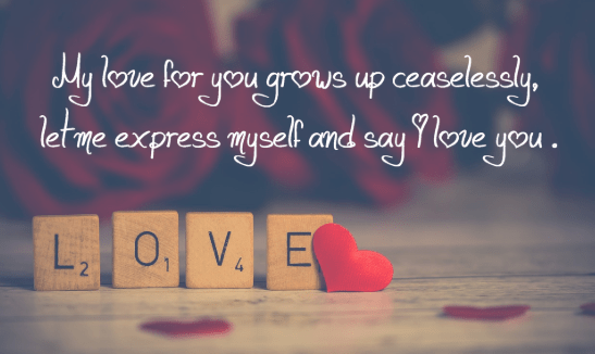 Romantic Love Messages For Her Love Quotes Pinterest Love