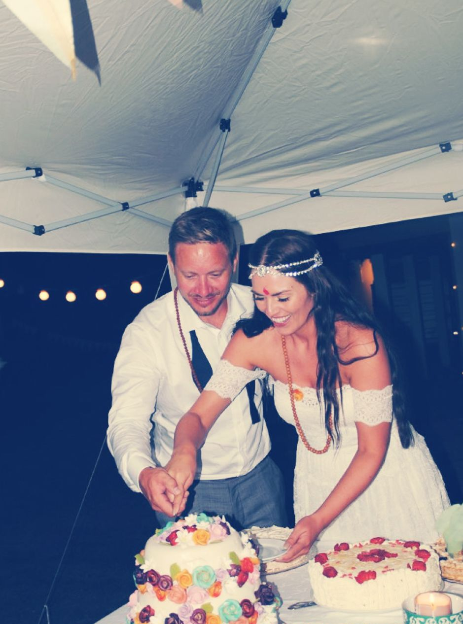 Boho bride wearing the Josee dress xx www.graceloveslace.com.au