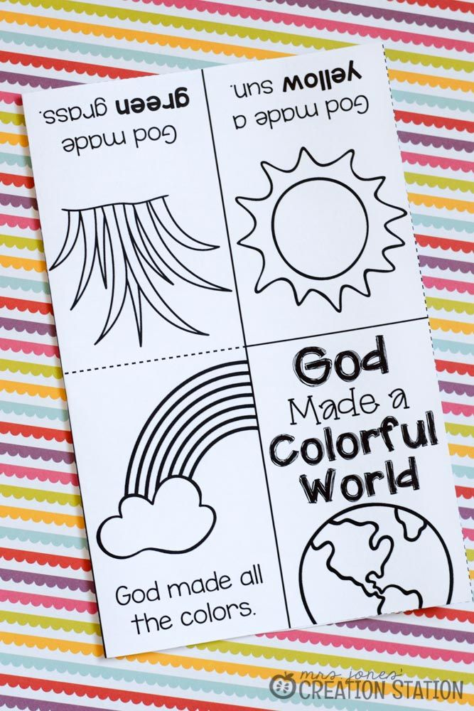 FREE Printable Book for Teaching Colors | Toddler bible ...