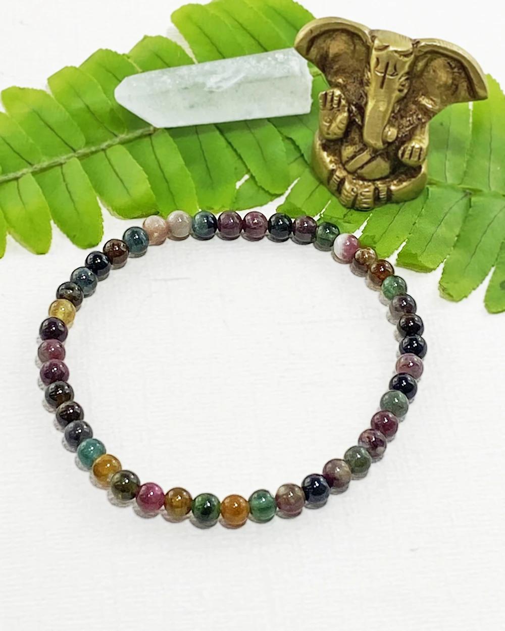 Tourmaline Mini Gemstone Energy Bracelet In 2020 Gemstones Energy Energy Bracelets Gemstones