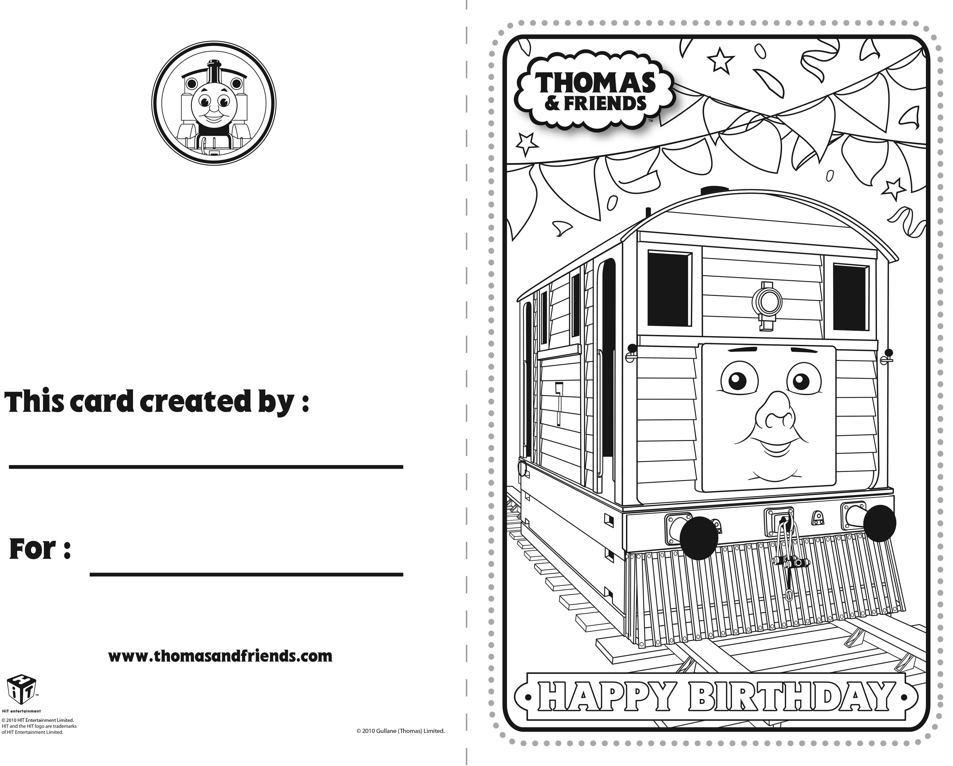 Thomas And Friends Birthday Card Toby Thomasandfriends Thomasthetankengine Birthdayc Thomas And Friends Birthday Cards For Friends Birthday Card Printable