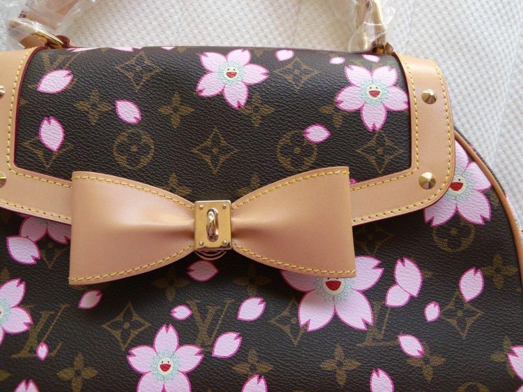 1820377a871d Louis Vuitton Cherry Blossom Sac Retro Hand Bag Murakami