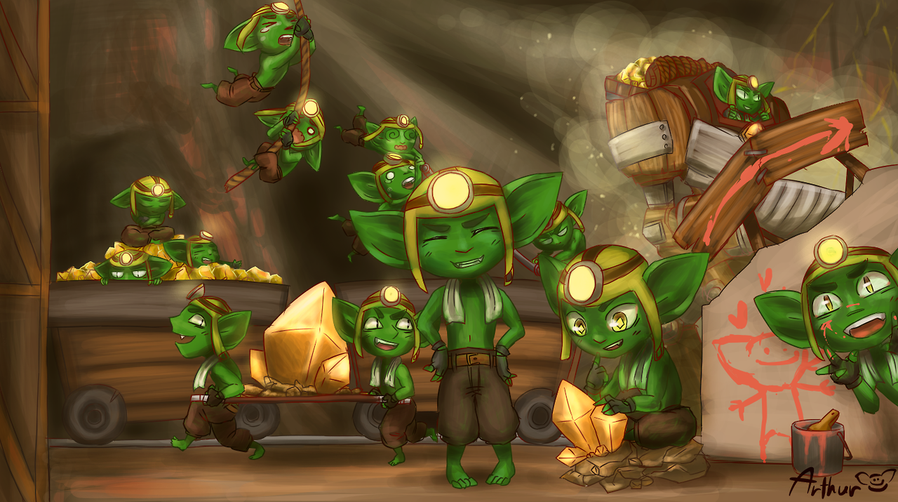 ruckus and his miner friends by arthur paladins stuff