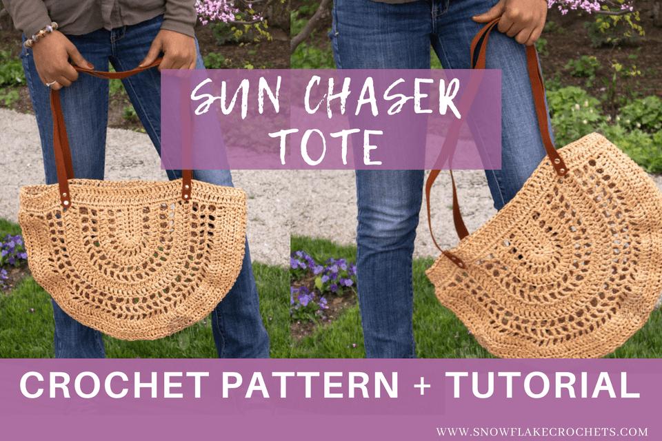 a3c540879281 Crochet Pattern / Sun Chaser Tote Bag | Summer Crochet Patterns ...