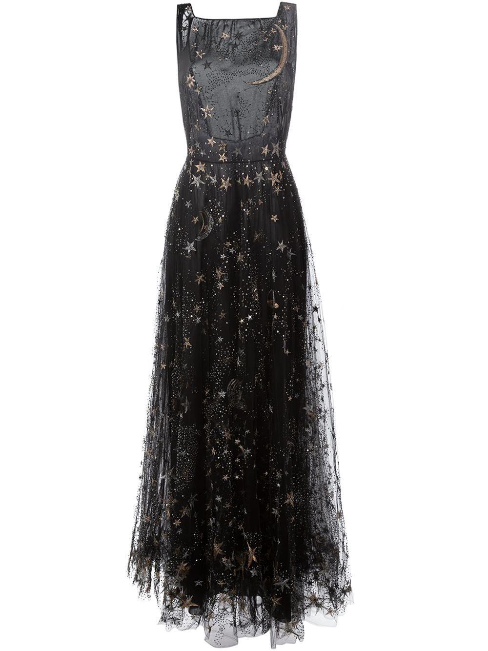 Vestido de noche bordado