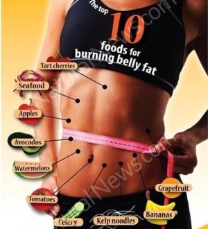 Foods for burning belly fat.   Pink Pad - the app for women - pinkp.ad