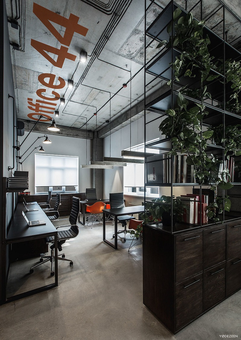 20 Trendy Ideas For A Home Office With Skylights: Industrial Office Design, Office Interior Design