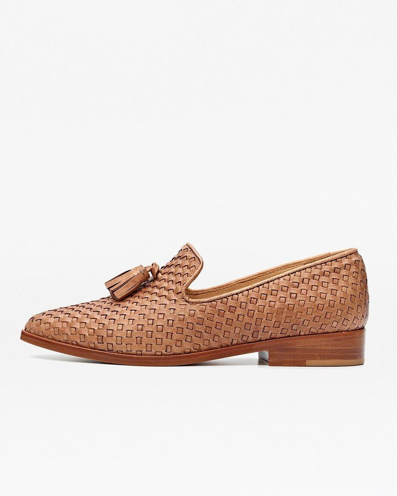 4b3ff9ab8065 Frida Woven Loafer Brown