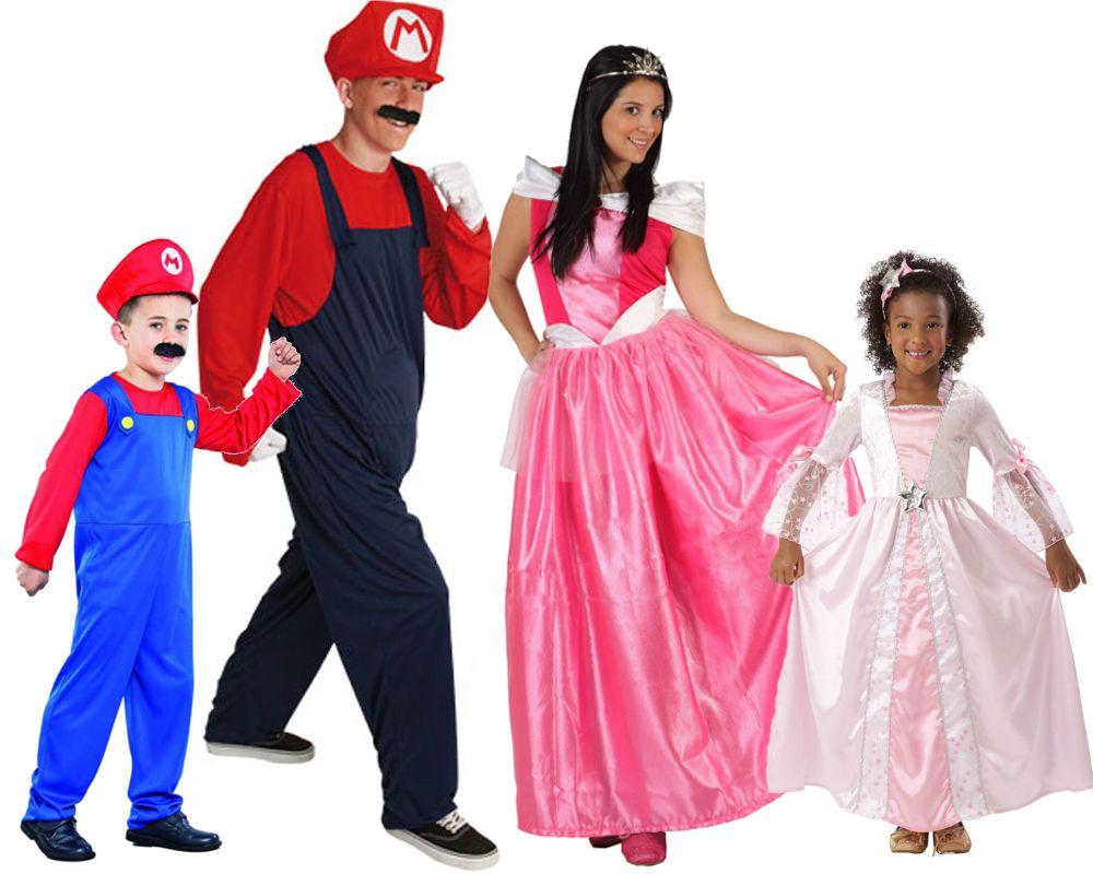 familia de peach mario bros disfraces carnaval