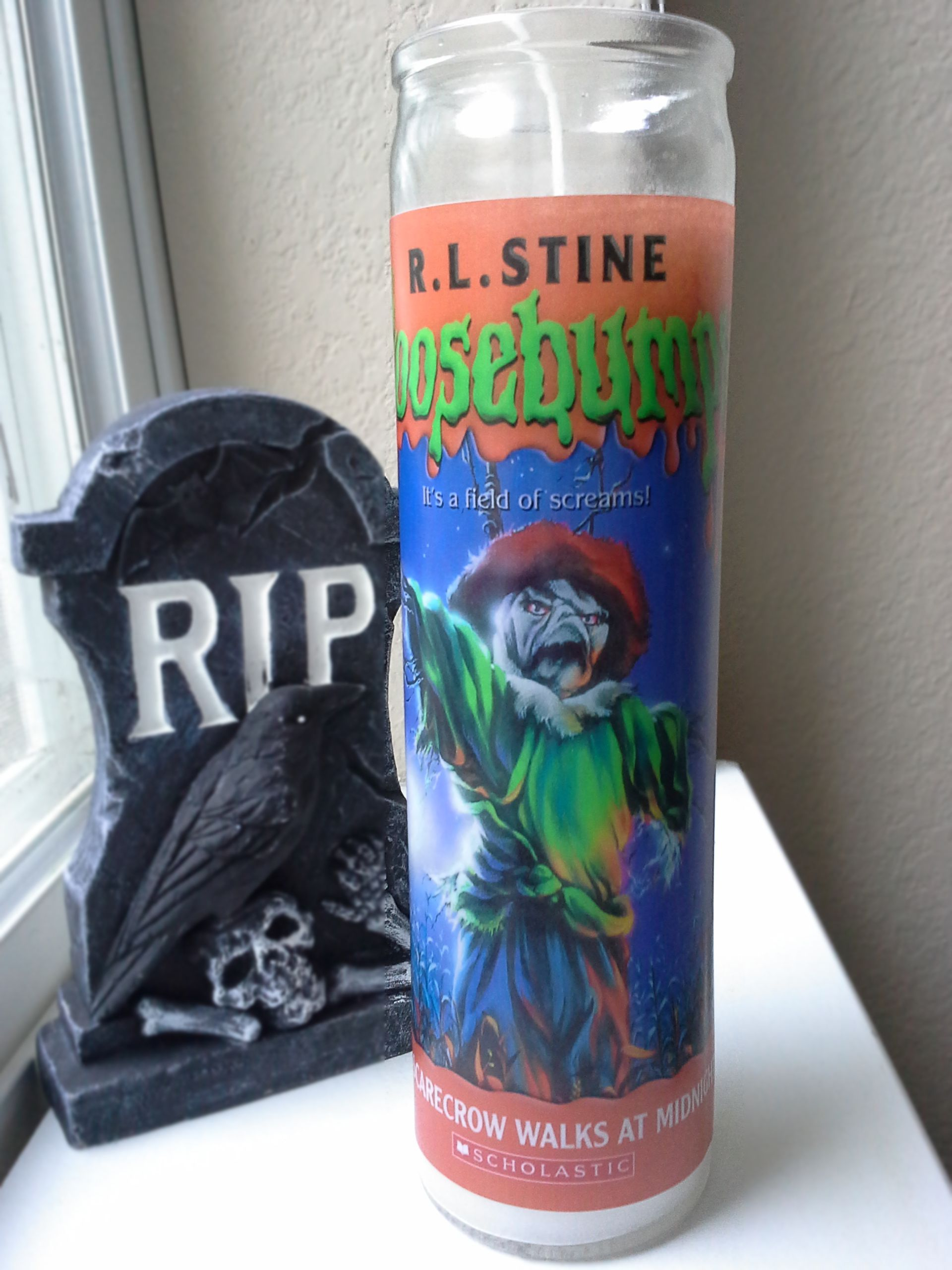 Goosebumps scarecrow prayer candle from bella morta jewelry