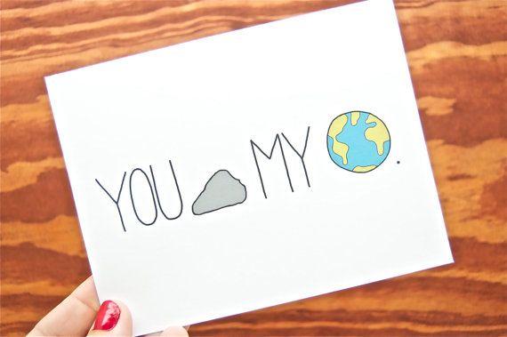 Funny Love Card You Rock My World Boyfriend Girlfriend Friend Anniversary Via Etsy Love Cards Funny Love Cards Punny Cards