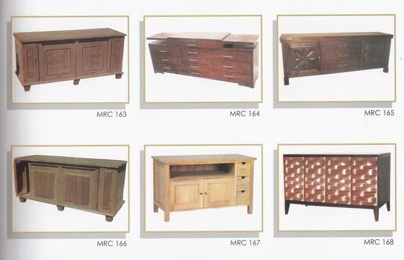 Katalog Gambar Mebel Buffet Rak Tv Jati Model Minimalis