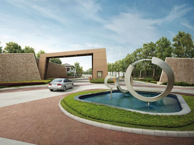 Modern gateway entrance landscape designs google search for Garden entrance designs