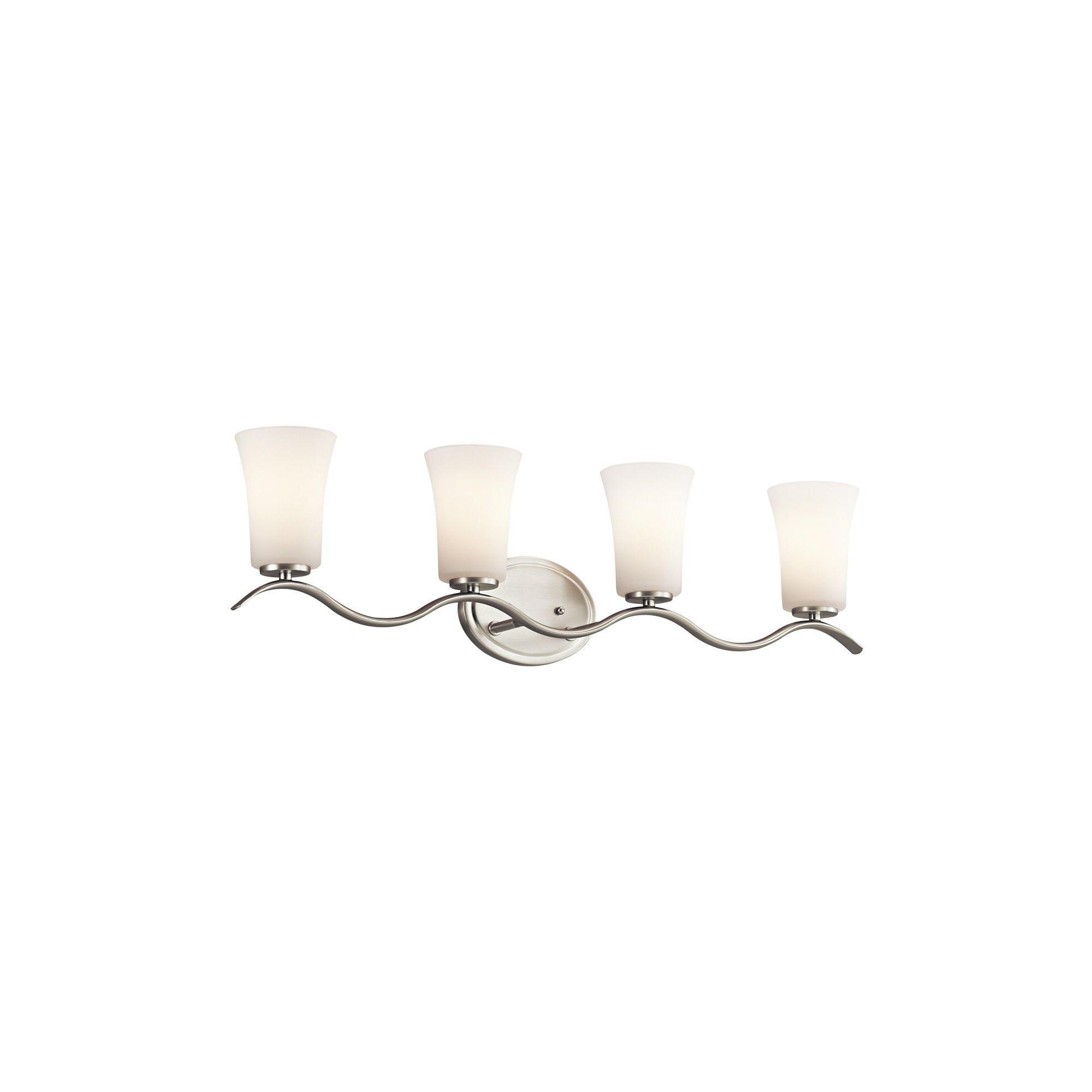Photo of Kichler 45377 Armida 32.25″ Wide 4-Bulb Bathroom Lighting Fixture – Brushed Nickel