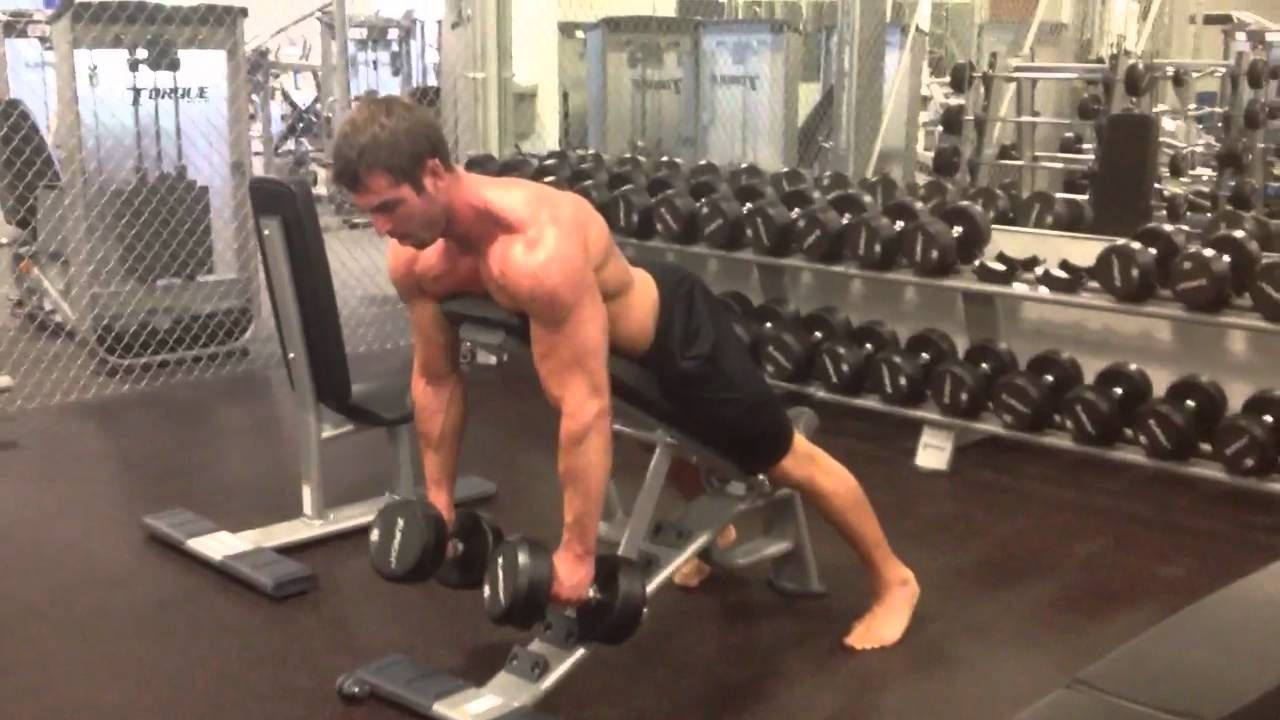Chest Supported Dumbbell Row Lie Face Down On An Incline Bench