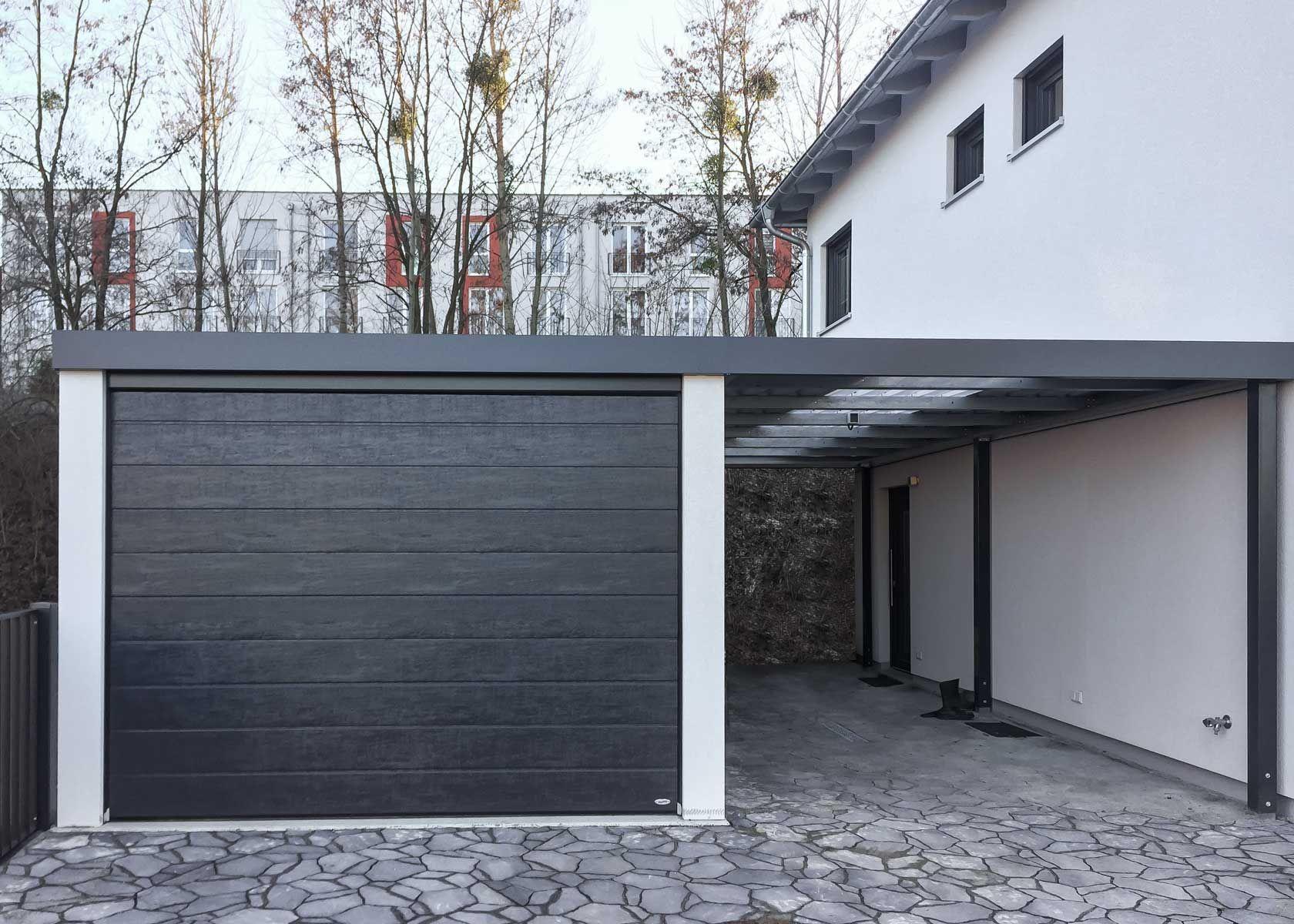 Siebau Garagen Mit Carportanbau Fertiggaragen Carport Garage Dach