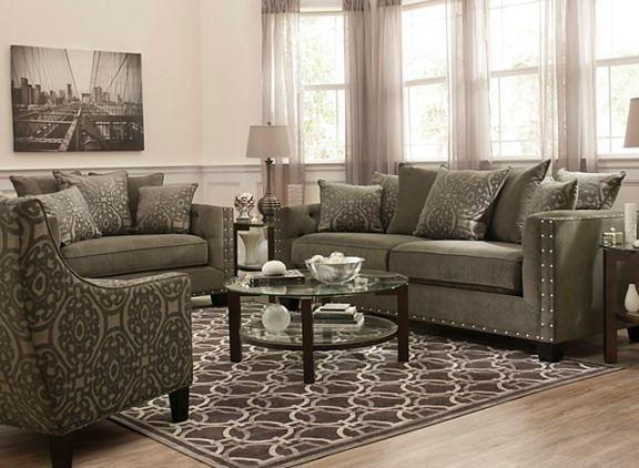 Cindy Crawford Calista Microfiber Sofa Sofas Raymour And