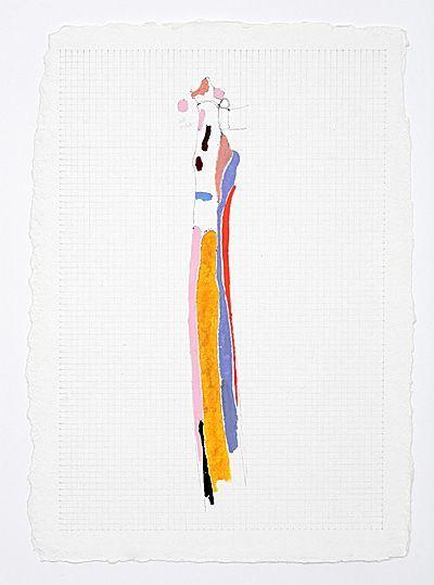 Mark Lammert: Untitled (Bones), 2006, oils and charcoal on handmade paper, 40 x 30 cm