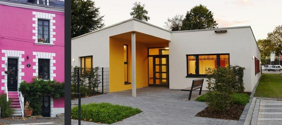 Couleur facade maison gris simple facade maison nancy for Garage ad nancy