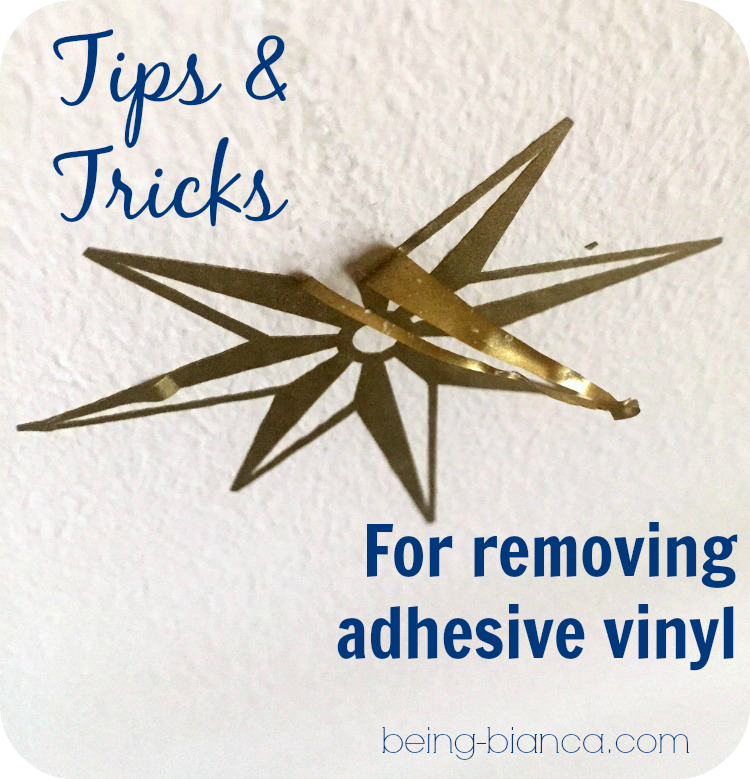 ever need to remove a vinyl decal lettering or design from a surface this easy trick works great no mess easy tip for removing adhesive vinyl designs