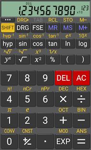 RealCalc Scientific Calculator. Es la versión científica
