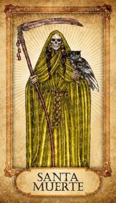 Prayer Card - Santa Muerte (Dorada) | 13 Santa Muerte 13 ...
