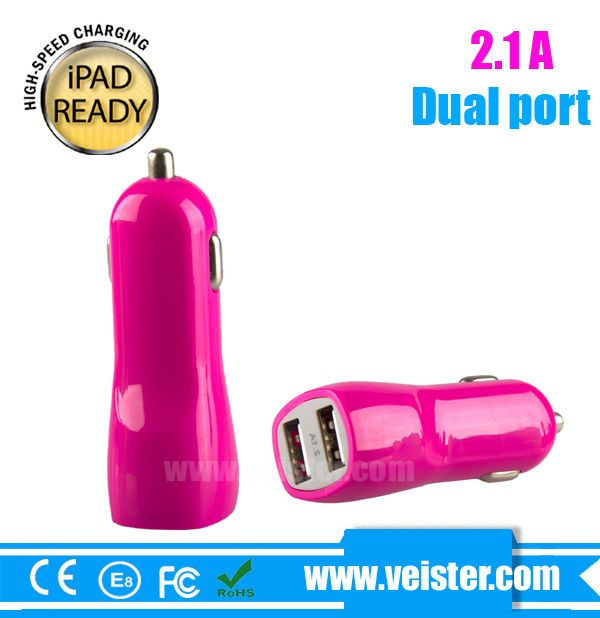 5V2A dual micro usb car adapter from OEM factory for iPhone