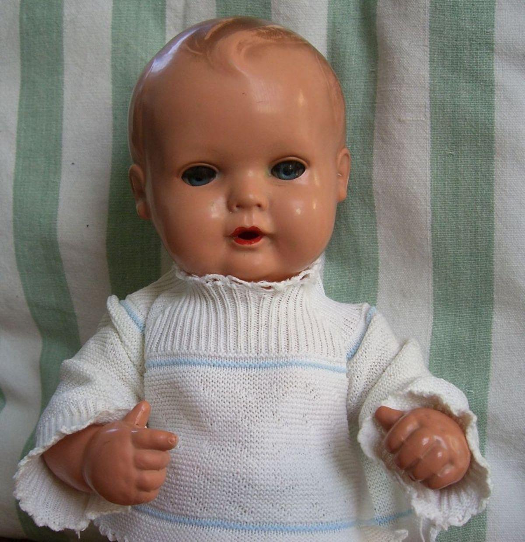 Alte Puppe Schildkröt 28cm aus Sammlungs Auflösung
