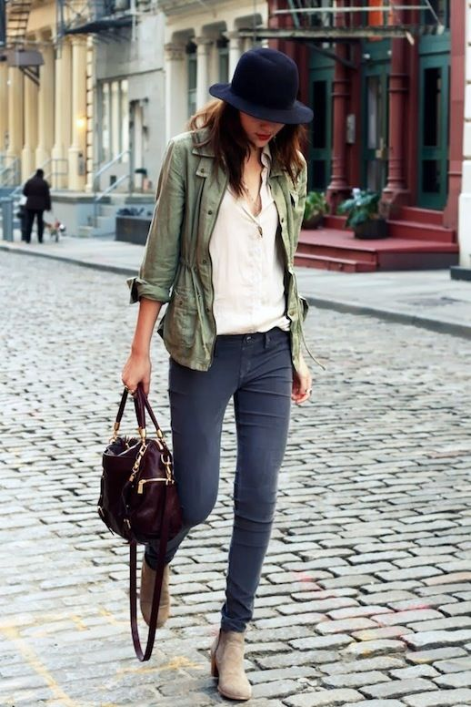 15 Le Fashion Blog 15 Ways To Wear A Green Army Jacket Hat Button ...