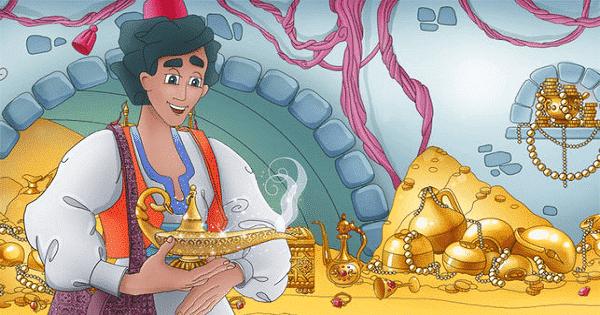قصة علاء الدين والمصباح السحري بالعربي كاملة Fairy Tales Aladdin Picture Illustration
