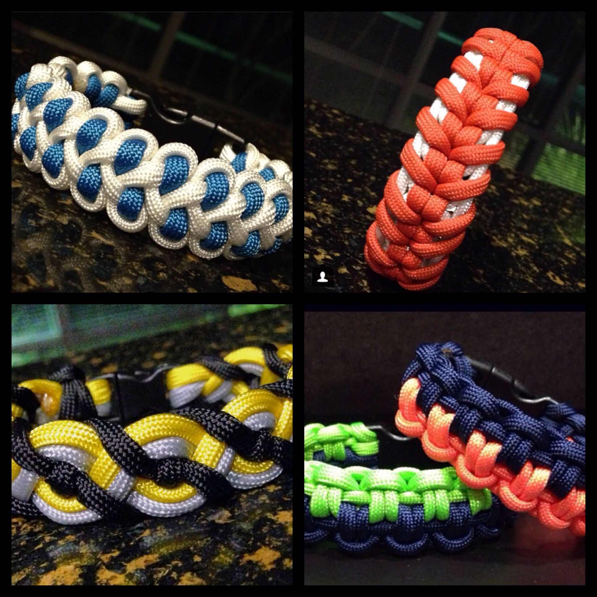 Paracord bracelets anybody know how to make this top left for Things you can do with paracord