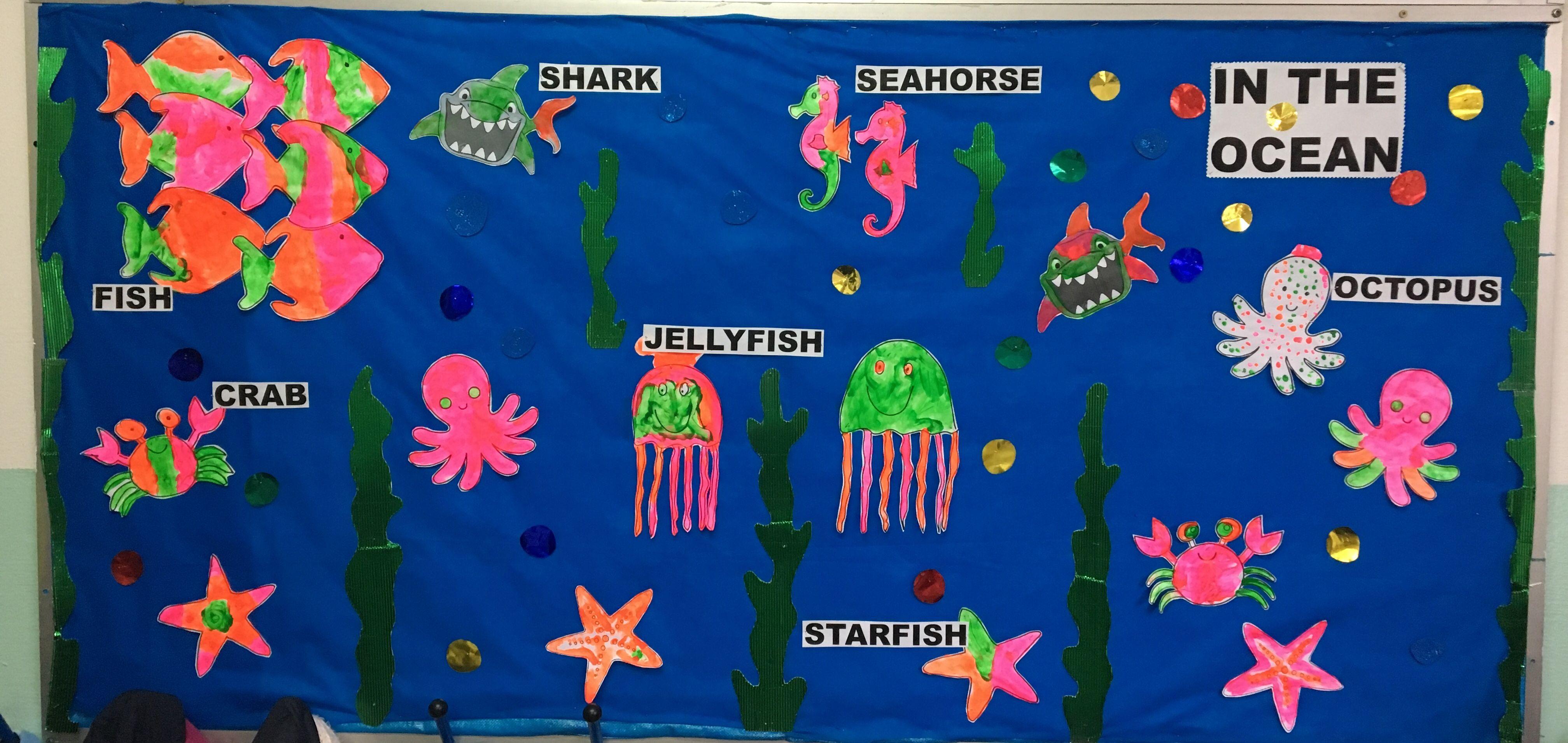Sea animals bulletin board Sea animals, Seahorse, Under
