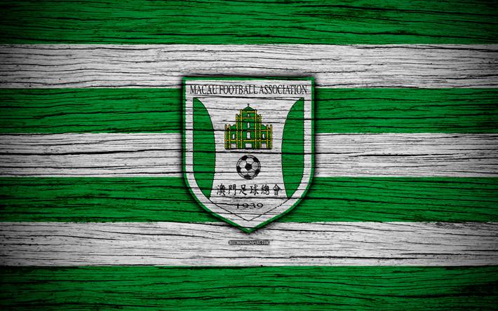 Download Wallpapers Macau National Football Team 4k Logo Afc Football Wooden Texture Soccer Macau Asia Asian National Football Teams Macau Football Fe Makao Premier Lig Futbol