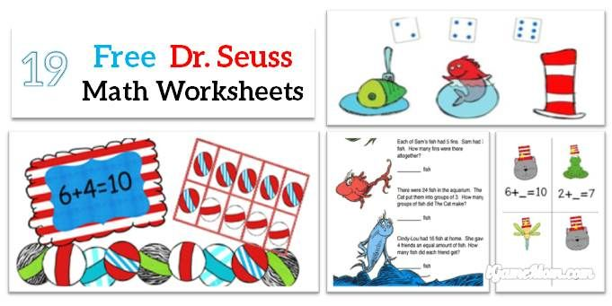 Free Dr Seuss Math Printable Worksheets For Kids Kids Worksheets Printables Preschool Math Worksheets Math Worksheets