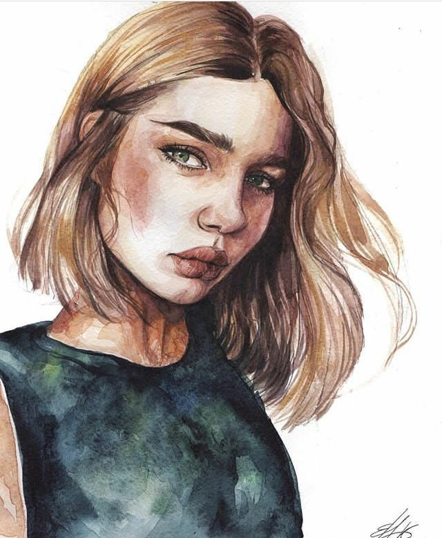 Pinterest Annieearnshaw13 Portrait Art Watercolor Portraits Art
