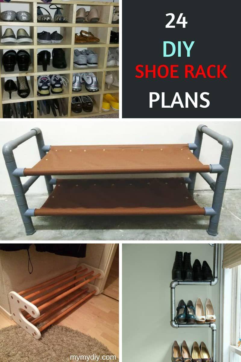 24 savvy diy shoe rack plans free blueprints mymydiy