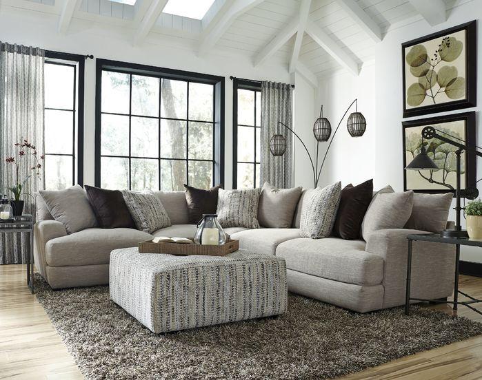 Big Grey Sectional Sabine Sectional Farm House Living Room