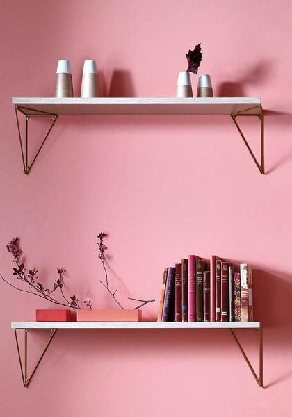 Shelving System Inspiration Pythagoras Brass And Bordeaux Pink