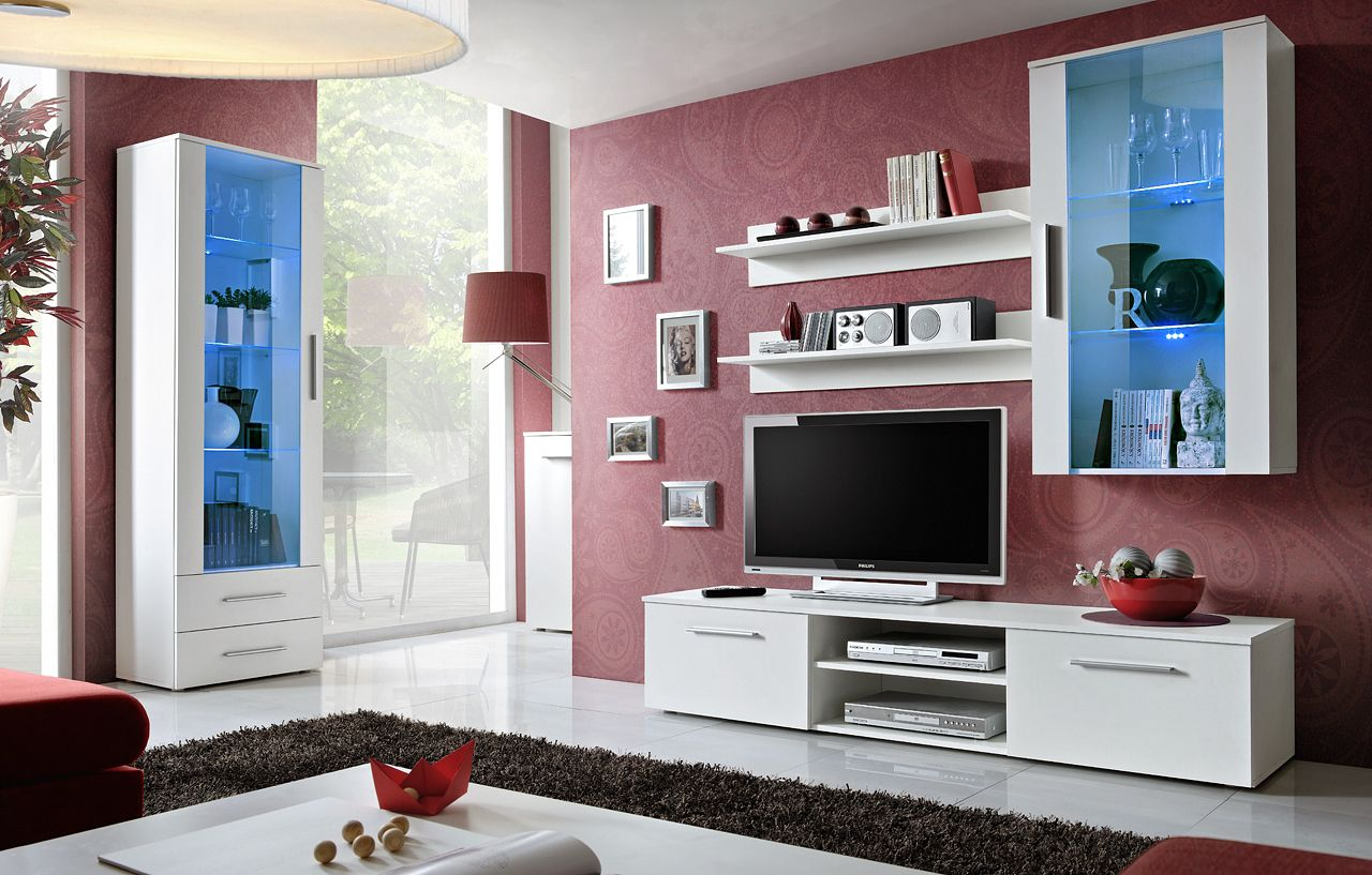 Grand Meuble Tv Mural Sekcija Pd88 Kitchen Idea Modern Tv Wall Units Living Room