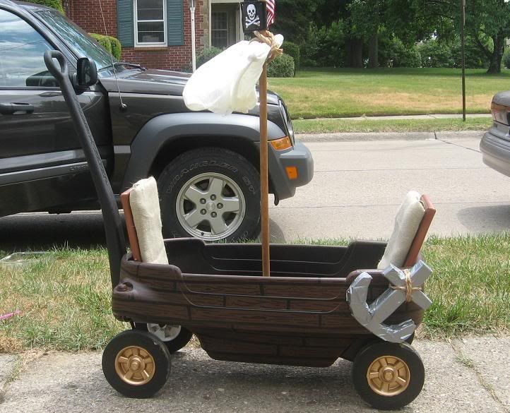 my sons radioflyer wagonpirate ship toys dolls and playthings my son had a red radio flyer wagon now he has a pirate ship - Kids Halloween Radio