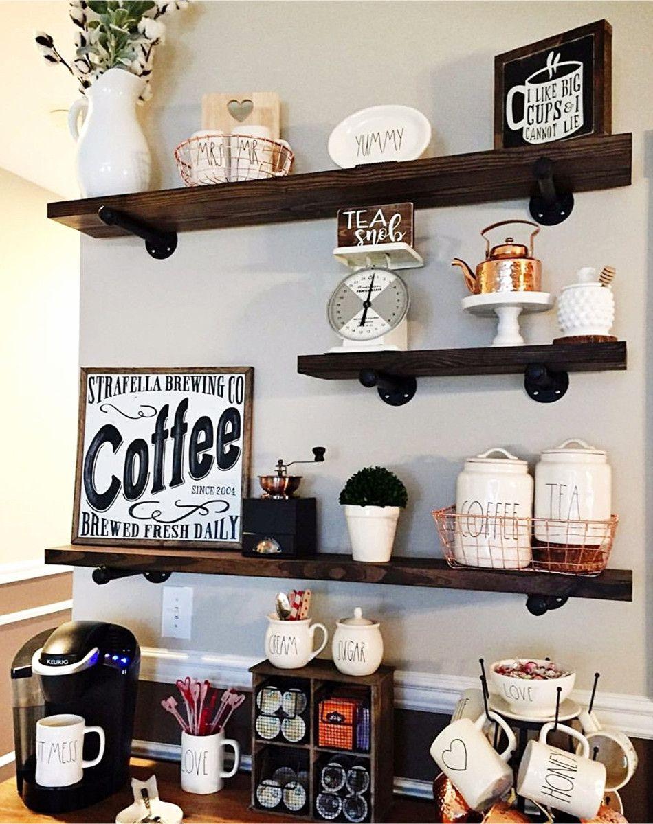 Diy coffee station ideas home coffee bars ideas for Coffee bar station