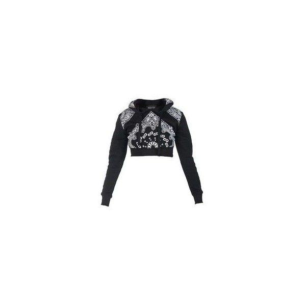 Do It Crop Sweatshirt in Black via Polyvore featuring tops, hoodies, sweatshirts, cropped sweatshirt, cropped tops, low crop top, low cut crop top and low top
