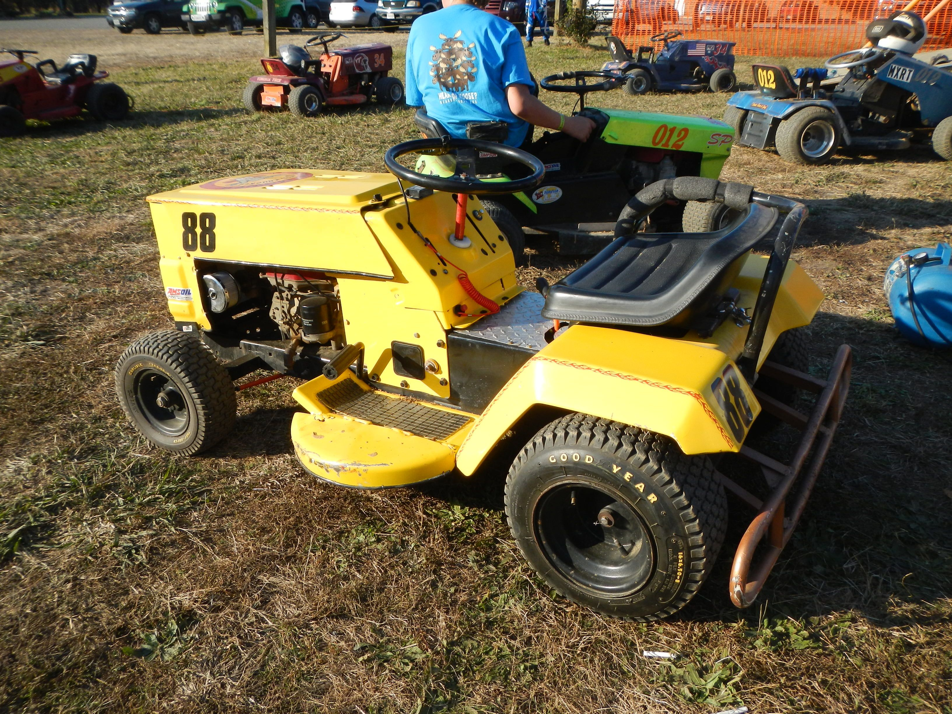 Suped Up Lawn Mower For Racing With The Virginia Lawn