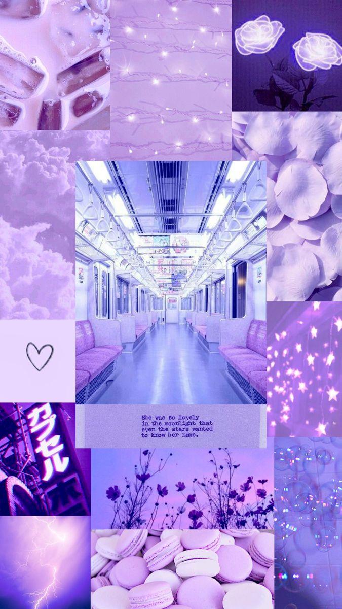 Purple Aesthetic IPhone Wallpaper