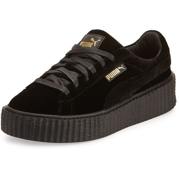 8019417a85f0 Fenty Puma By Rihanna Velvet Low-Top Creeper (205 NZD) ❤ liked on ...