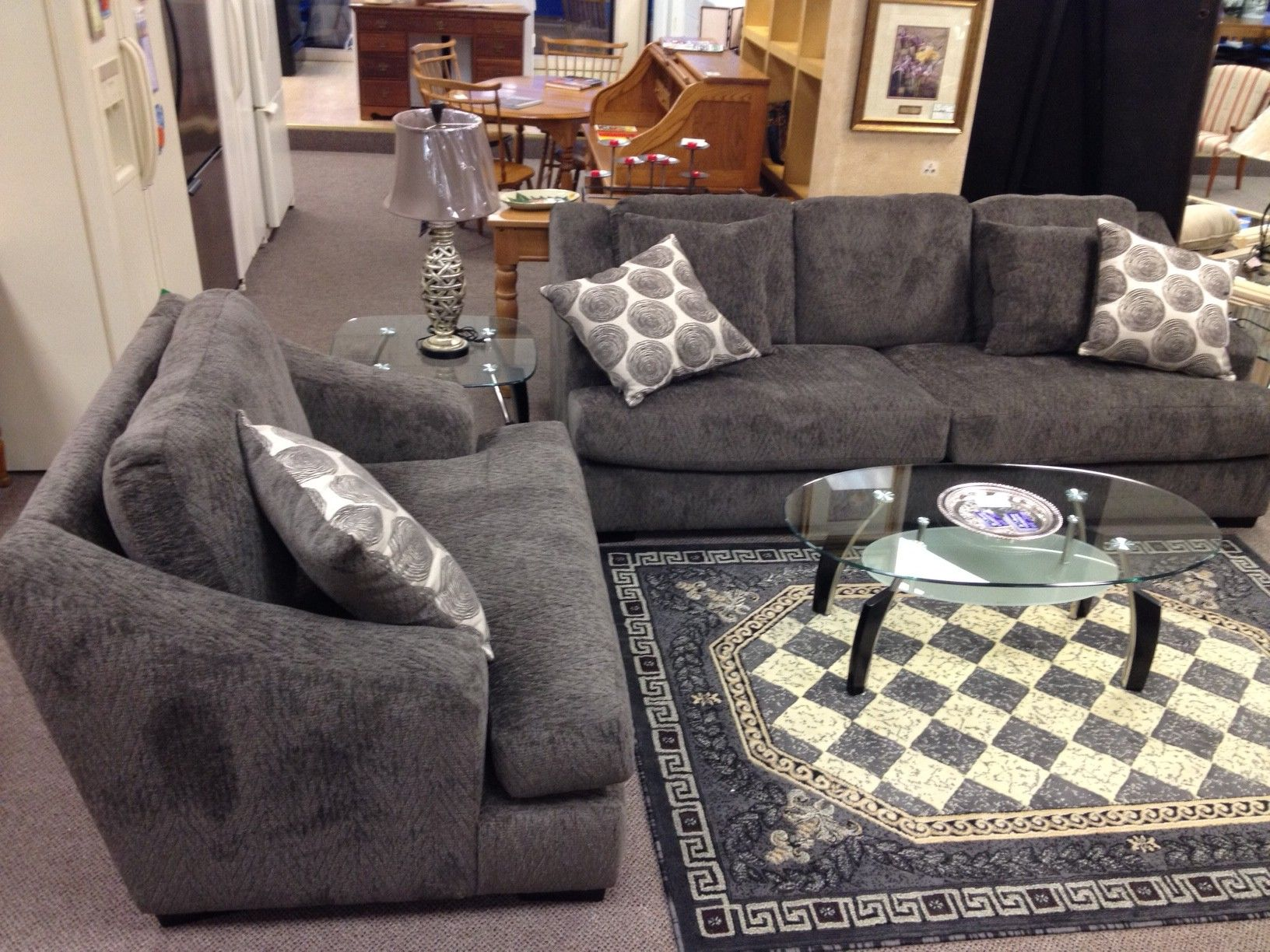 Sofa and oversized chair $1158