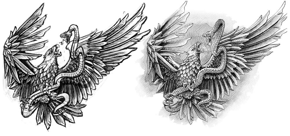 Mexican Flag Eagle On Behance Mexican Flag Eagle Mexican Flags Illustration Art