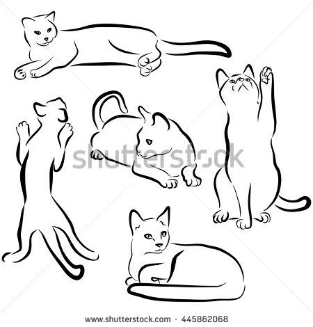 related image  adult doodle art cat silhouette