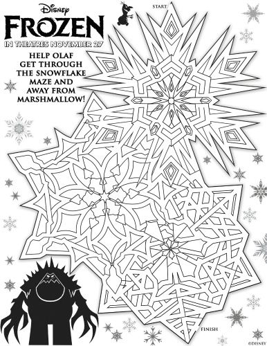Disney Frozen Printable Olaf And Marshmallow Maze Kids Pinterest